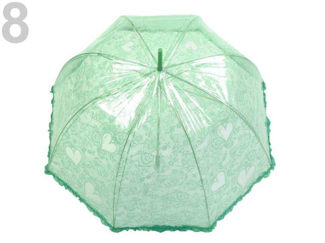 9535e62b1 Módne doplnky   Dámsky priehľadný vystreľovací dáždnik s volánkom ...