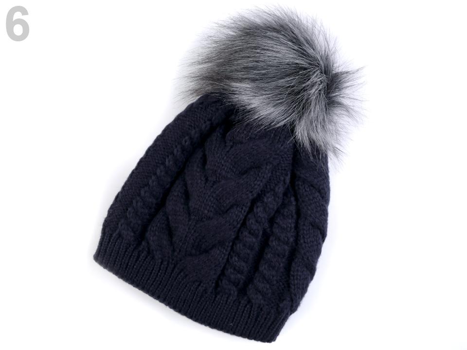 242fd2118 Módne doplnky | Dámska zimná čiapka s brmbolcom - 1 ks | www ...