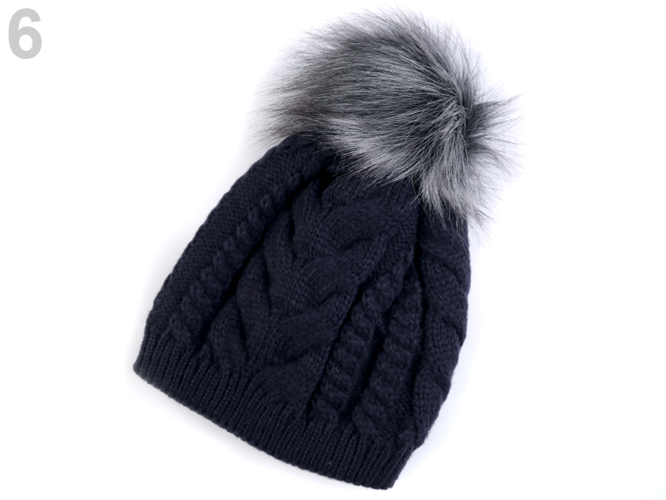 f515d9a44 Módne doplnky | Dámska zimná čiapka s brmbolcom - 1 ks | www ...
