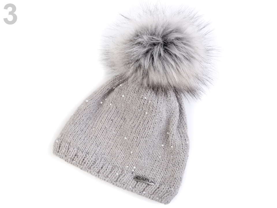 977023b67 Módne doplnky | Dámska zimná čiapka s brmbolcom Capu - 1 ks | www ...