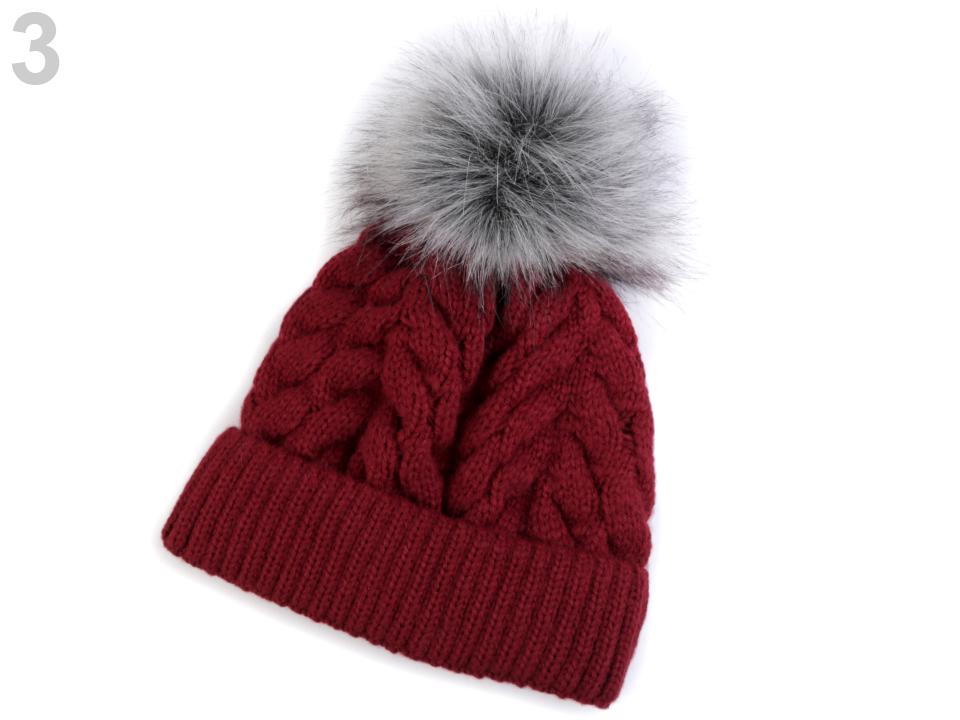 44a64a817 Módne doplnky | Dámska zimná čiapka s brmbolcom - 1 ks | www ...