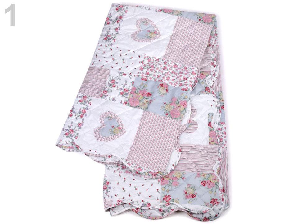 74f3175796306 Bytový textil   Prošívaný prehoz na postel obojstranný 220x240 cm 1 ...