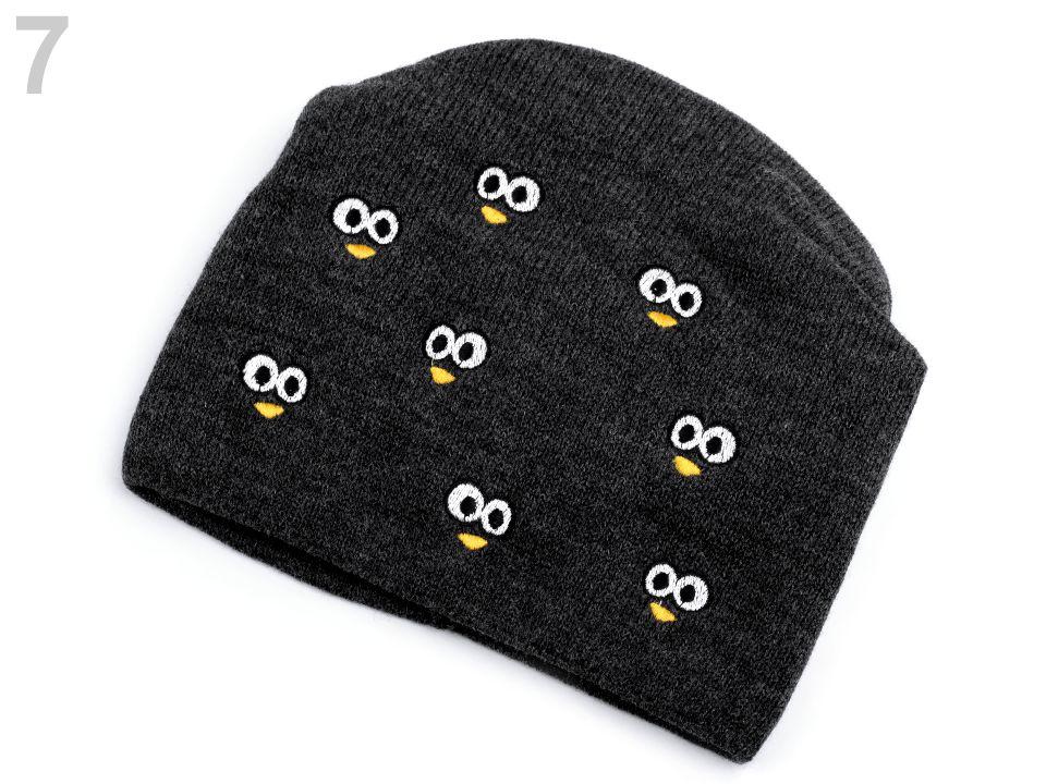 feffc53db Detská zimná čiapka s výšivkou očí - 1ks empty