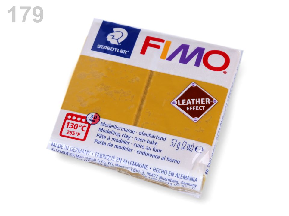 Fimo 57 g Leather Effect - kožený efekt - 1 ks