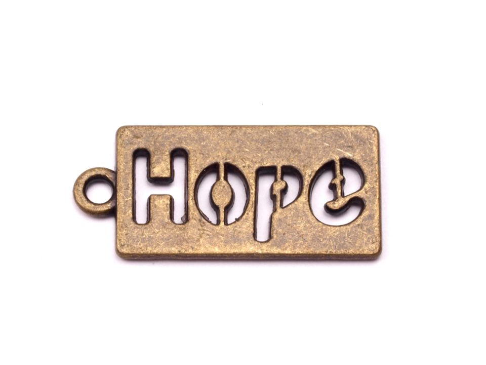 Prívesok 11x23 mm Hope
